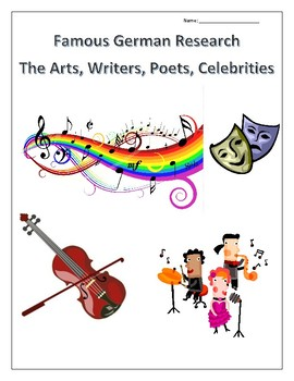 (FAMOUS GERMANS) Arts, Writers, Poets, Celebrities Research - distance learning