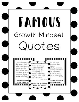 Famous Growth Mindset Quotes and Statements