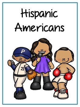 Famous Hispanic Americans Writing Word Thematic Folder - Picture Word Wall