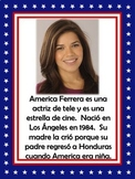 Famous Hispanics Bulletin Board (128 slides) in Spanish!