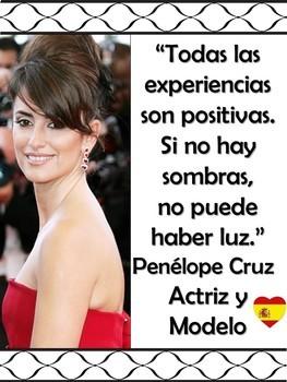 Famous Hispanics Presentation & Bulletin Board - Spanish
