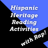 Hispanic Heritage Month Reading Comprehension Passages and Activities with Songs