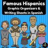 Famous Hispanics in Spanish (Hispanos Latinos- organizador grafico y escritura)