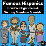 Famous Hispanics in Spanish (Hispanos Latinos- organizador grafico y escritura)