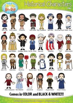 Famous Historical Characters Clipart {Zip-A-Dee-Doo-Dah Designs}