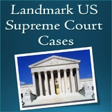Famous Important Landmark US Supreme Court Cases Slideshow