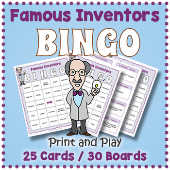 Famous Inventions and Their Inventors BINGO
