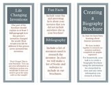 Famous Inventor Biography Brochure Assignment