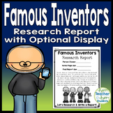 Famous Inventor Report w/ Optional Display: Inventors Research Students Love!