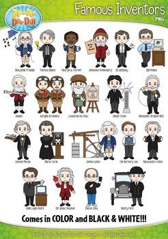 Famous Inventors Characters Clipart {Zip-A-Dee-Doo-Dah Designs}