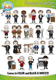 Famous Inventors Characters Clip Art Bundle Pack — Include