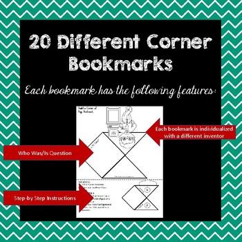 Famous Inventors Corner Book Marks