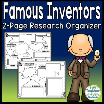 Famous Inventors Graphic Organizer: Research Organizers wi