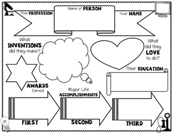 Famous Inventors Graphic Organizer: Research Organizers with FREE Writing Paper