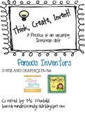 Famous Inventors - Invention Unit Freebie!
