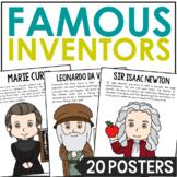 Famous Inventors Poster Set with Biographies, Science, STEM, BUNDLE