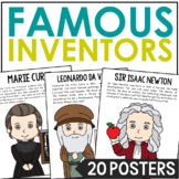 Famous Inventors Poster Set with Biographies, Science, STEM