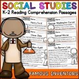 Famous Inventors Reading Comprehension Passages K-2