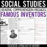Famous Inventors Reading Comprehension Passages (Social Studies)