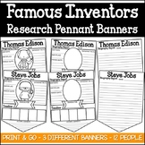 Famous Inventors Research Pennant Banner Project (Inventors)
