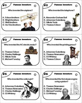 Famous Inventors Task Cards