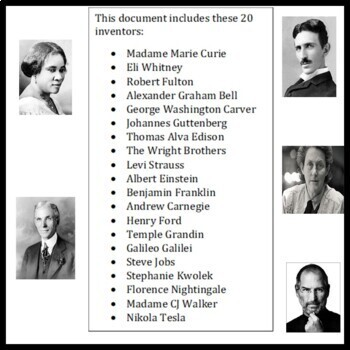 Famous Inventors and Innovators Data Cards