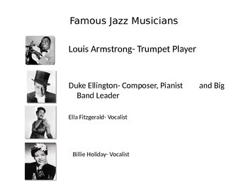 Famous Jazz Musicians PowerPoint