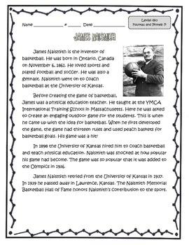 Famous Kansans Leveled Reading Passages