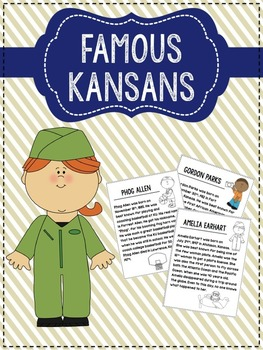 Famous Kansans Research Packet (Editable)