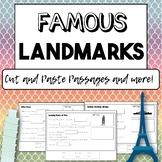 FAMOUS LANDMARKS - Cut and Paste Cloze Passages, Reading C