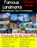 Famous Landmarks - Informational Texts