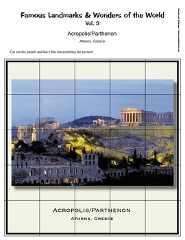 Famous Landmarks & Wonders of the World - 25 Photo Jigsaw Puzzles - Grades 2-5