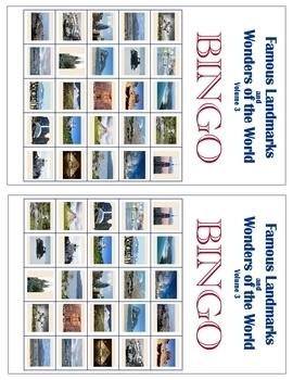 Famous Landmarks & Wonders of the World - Vol. 3 - Geography Unit Study & Bingo