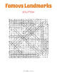 Famous Landmarks Word Search Puzzle