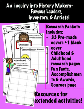 Famous People: Leaders, Inventors, & Artists