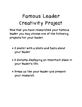 Famous Leaders Research Project