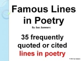 Famous Lines in Poetry - 35 Famous Lines w/Title, Author and Date