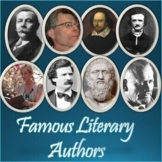 Famous Literary Authors Informational Slideshow for Google Slides