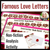 Famous Love Letters: A Close Reading & Creative Lesson for