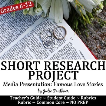 Valentine's Day Activities, Short Research Project, Famous Love Stories