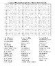 """Famous """"Maniacs""""(people from Maine) Crossword&WordSearch w"""