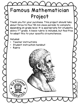 Famous Mathematician Research Project