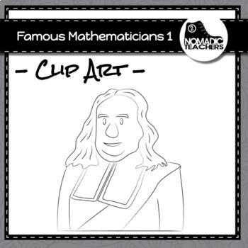 Famous Mathematicians Clip Art Pack 1 - 10 PNGS