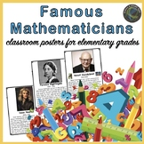 Famous Mathematicians Posters for Elementary Grades