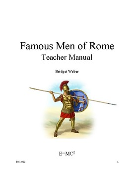 Famous Men of Rome Teacher Manual