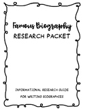 Famous (Missourian) Biography Research Project - Informational Writing