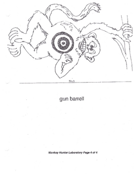 Famous Monkey Hunter Lab (gravity acceleration projectile motion)
