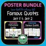 Famous Motivational Quotes Posters BUNDLE 2 Sets 100 great