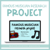 Famous Musician Research Project for Google Slides™ | Dist