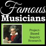Famous Musicians and Composers - Inquiry Research Project - Independent Workbook